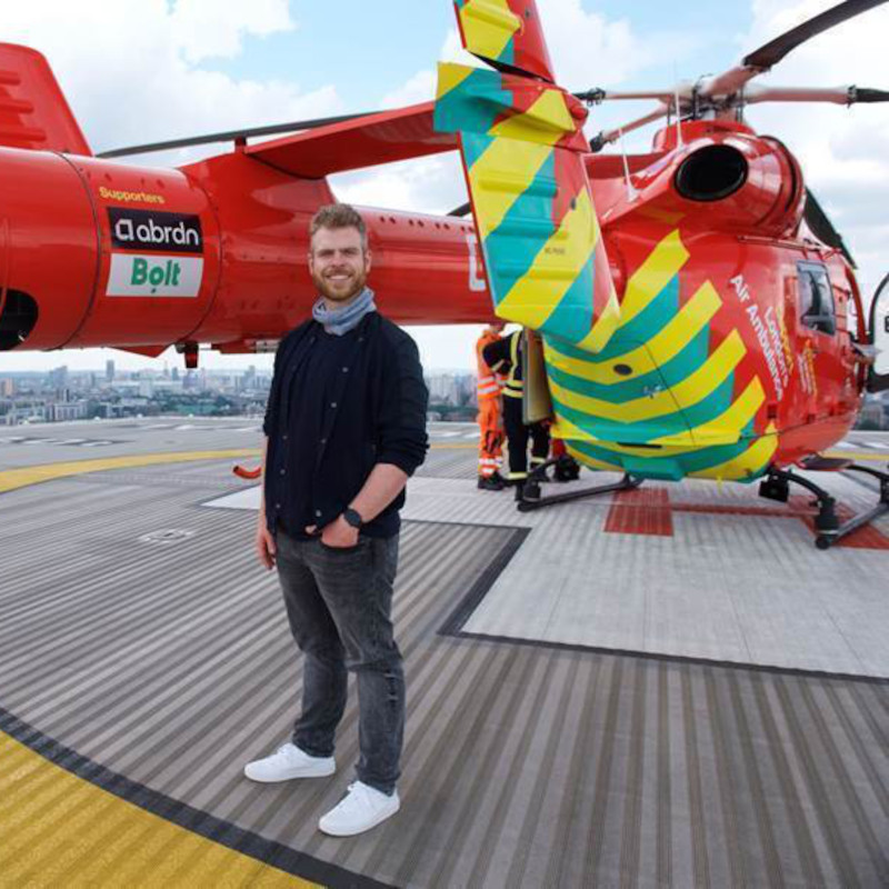 Bolt taxi app partners with London's Air Ambulance Charity