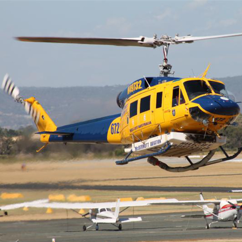 Donated Fire Fighting Helicopters arrive in Greece from Australia