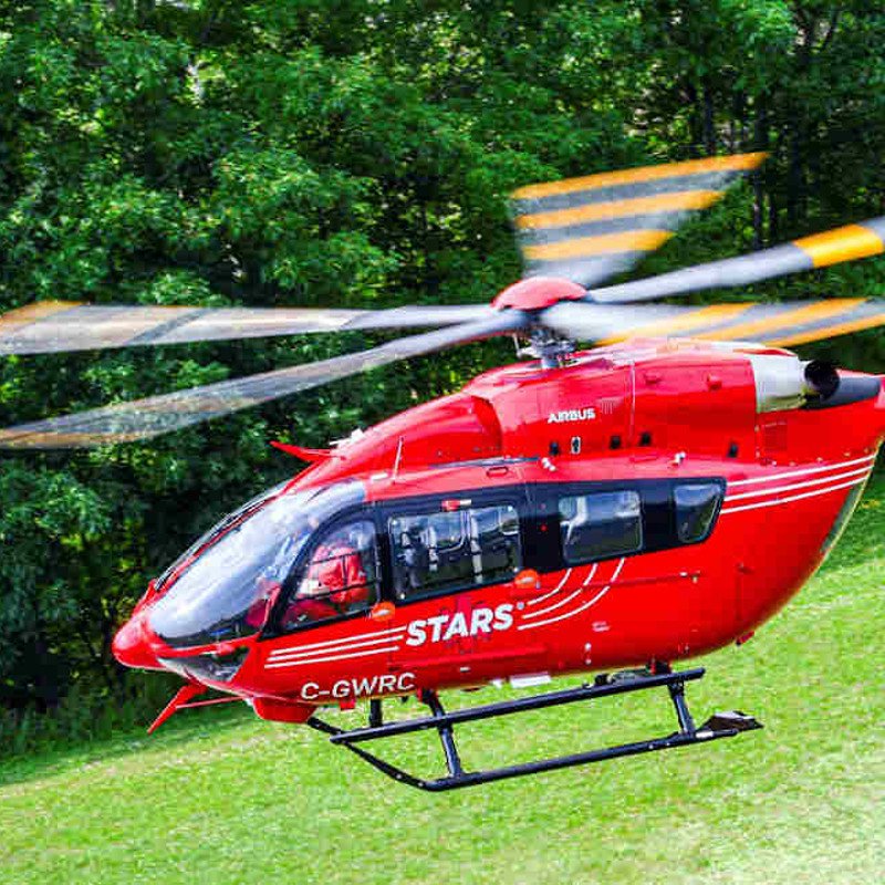 Airbus delivers first five-bladed H145 in North America to STARS Air Ambulance