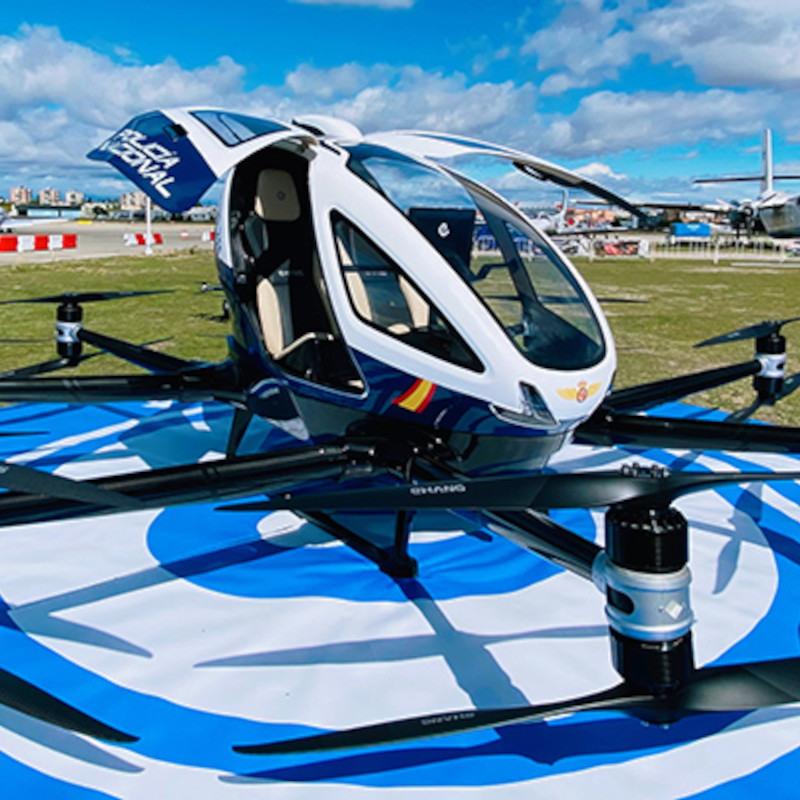 Spanish National Police explore use cases for eVTOL with EHang