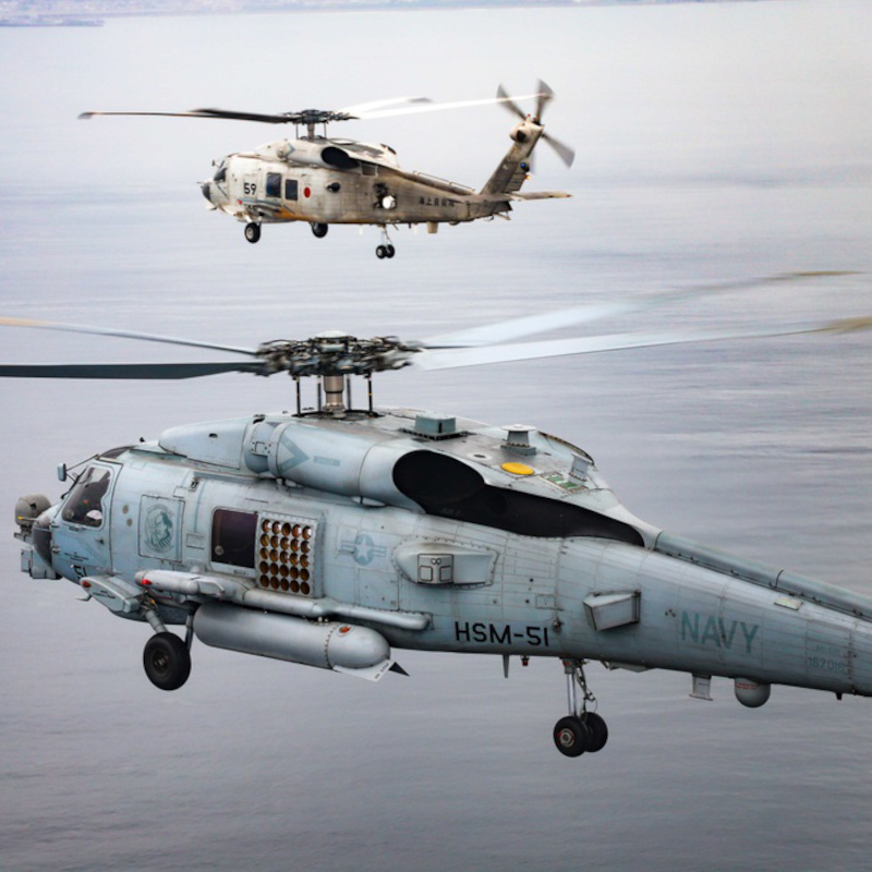 US Navy and JMSDF Helicopter Squadrons Conduct Bi-lateral Exercises