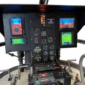 SPAES creates Bo105 digital cockpit based on Garmin 500H