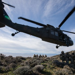 US helicopters conduct unique training with Greek military