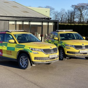 Yorkshire Air Ambulance welcomes two vehicles to their fleet