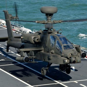 UK Army Apache Helicopters Conduct Maritime Aviation Training