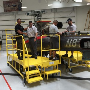 All Metal MS delivers custom EC130 Maintenance stand to Maverick
