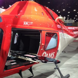 FAA approves AMS lightweight medical interior for AW109 and AW119