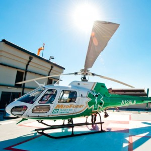 Huntsville Hospital's AS350 now carrying blood
