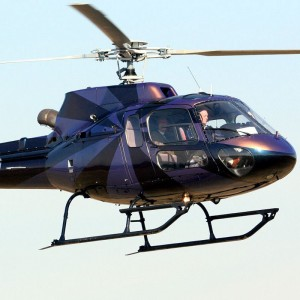 AS350 Lands at Helicopter Flight Training Center