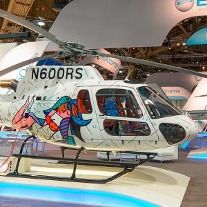 Pop Artist Romero Britto Makes AS350B3e a True Work of Art