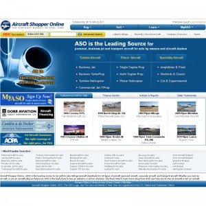 ASO Upgrades Leading Online Aircraft Ad Website to enhance user experience
