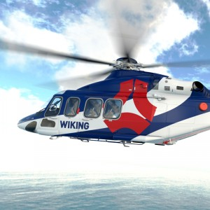 Wiking signs for two AW139s