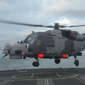 Wildcat begins sea trials aboard frigate HMS Iron Duke