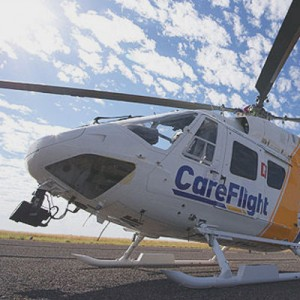 RACQ LifeFlight BK117 tests new helipad at Mount ISA Hospital