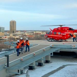 Rooftop pad opens at Regina General Hospital