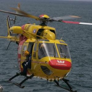 Westpac Surf Rescue helicopter launched at Moruya