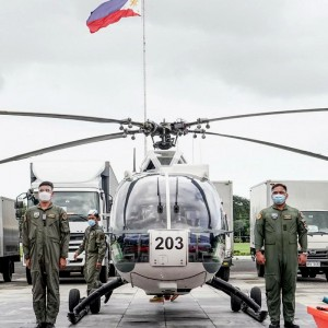Philippine Army thanks MVP for helicopter donation