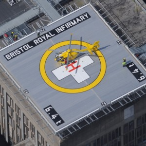 Dorset and Somerset Air Ambulance first to fly patient to new Bristol helipad