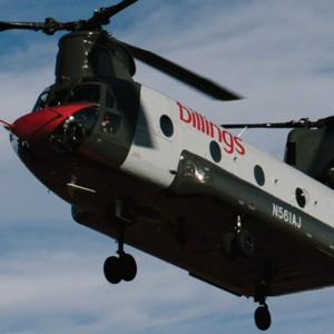 Billings Flying Service Chinook on standby for Montana firefighting