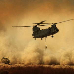 Forces improve helicopter landing zone in southern Afghanistan