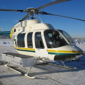 """Dart's Quick Release Heli-Utility-Basketâ""""¢ for LongRanger and 407 certified by FAA, TC and EASA"""