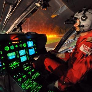 Christoph Regensburg prepares for NVG operations
