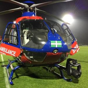 Devon Air Ambulance opens 100th community landing site