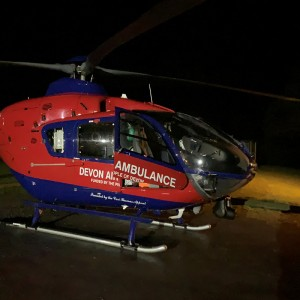 Devon Air Ambulance is targeted by bright lights