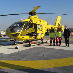 British air ambulance damaged by vandals