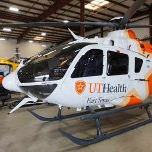 UT Health East Texas welcomes third rebranded EC135