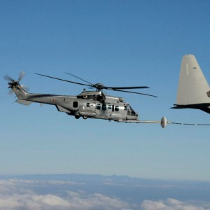French EC725 unit trains in air-to-air refuelling with Italian Air Force