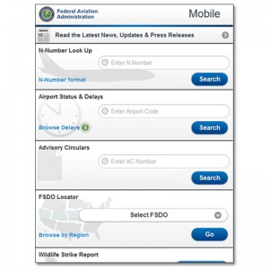 FAA Mobile – first release of FAA website for smartphones/tablets