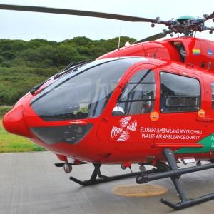 Community Interest Company Donates Face Shields to Wales Air Ambulance