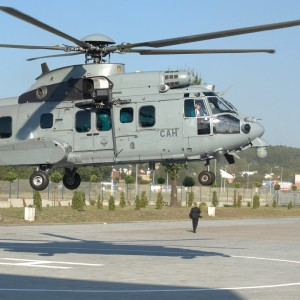 H225M Caracal lands in Poland for MSPO 2016