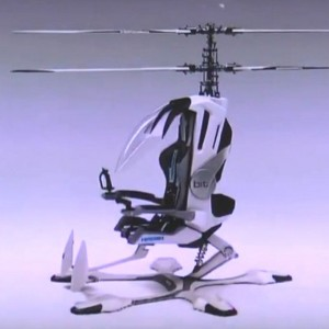 New single-seat electric coaxial helicopter concept in Japan