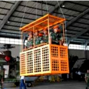Indonesian military develops underslung basket and platform