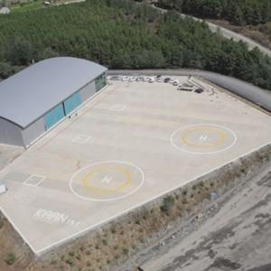 """Turkey's largest heliport """"K Heliport"""" opened"""