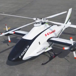 Kawasaki puts supercharged H2R engine in a helicopter