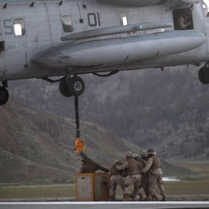 Javelin Thrust Marines conduct helicopter heavy lifting exercise