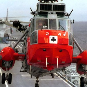 Royal Navy SAR Sea Kings leave Culdrose for the last time