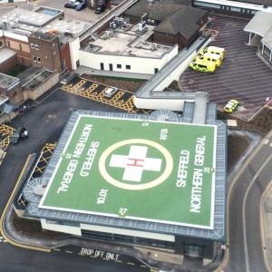 Duke of York opens helipad at Northern General Hospital