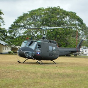 Belize Defence Force holds ceremony for two donated UH-1s