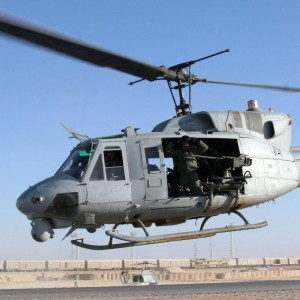 US Marine Corps UH-1N has mid-air engine fire