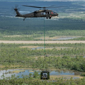 Unmanned Black Hawk picks up and delivers Unmanned ground vehicle
