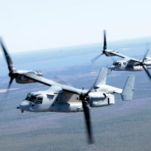 VMM-365 flies the barn – all ten V-22s fly together