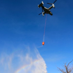 MV-22 proves firefighting capability in Cal Fire exercise
