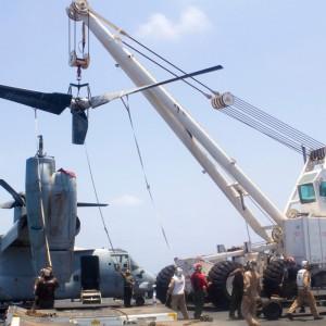 VMM-266R conducts MV-22B maintenance aboard USS Kearsarge