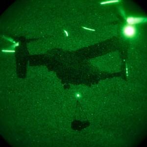 Landing Support team completes V-22 night taining