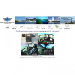 AeroSimulators launches micro-website for Brazil