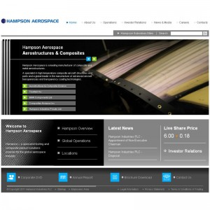 Hampson Aerospace launches new website